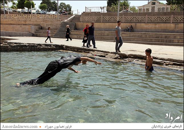 جاری شدن مجدد ورودی غربی چشمه علی