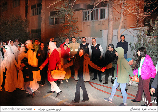 خواندن سرود میهنی ایران