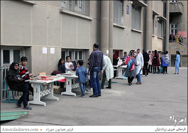 غرفه های فروش فرهنگی با همراهی دانش آموزان