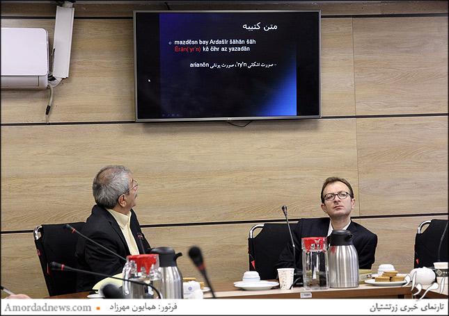 چهره راست احمدرضا قائممقامی مدیر گروه زبانهای ایران باستان دانشگاه تاریخ