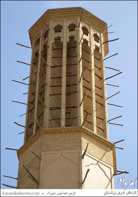 بلندترین بادگیر جهان درباغ دولت آباد یزدبه بلندی 33 متر
