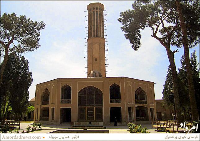 بلندترین بادگیر جهان درباغ دولت آباد یزد به بلندی 33.35 متر