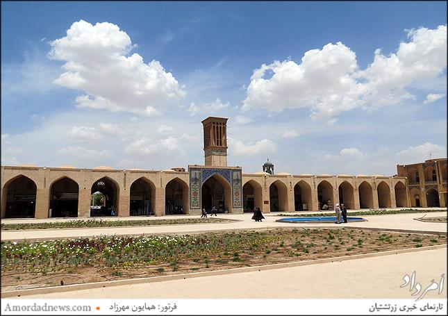 بادگیر مدرسه ابراهیم خان در بازار کرمان
